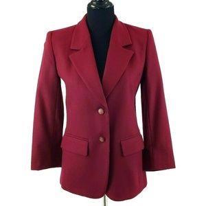 Pendleton Petite Red Wool Blazer